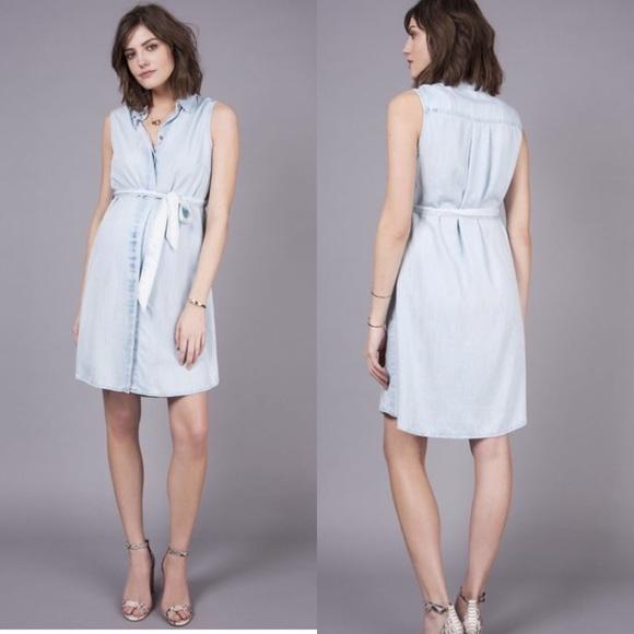 f0b22c481c072 Seraphine Denim Maternity Dress size 2. M_5bdc5da4e944ba0dc28aae6a